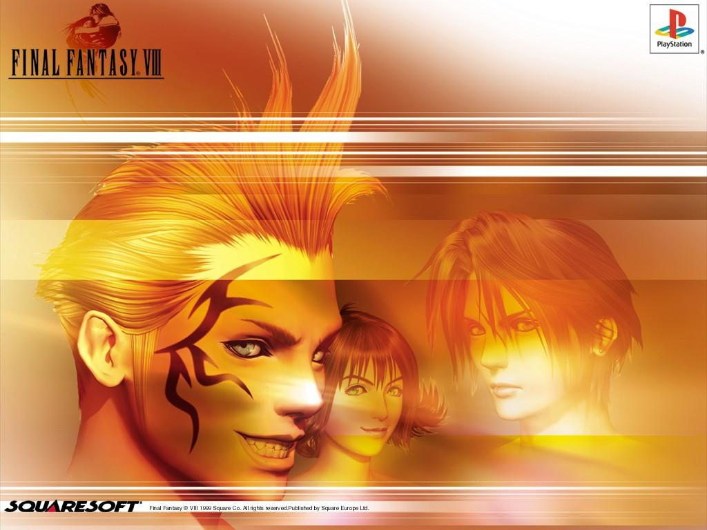 Wallpaper Final Fantasy 8 zell squall linoa