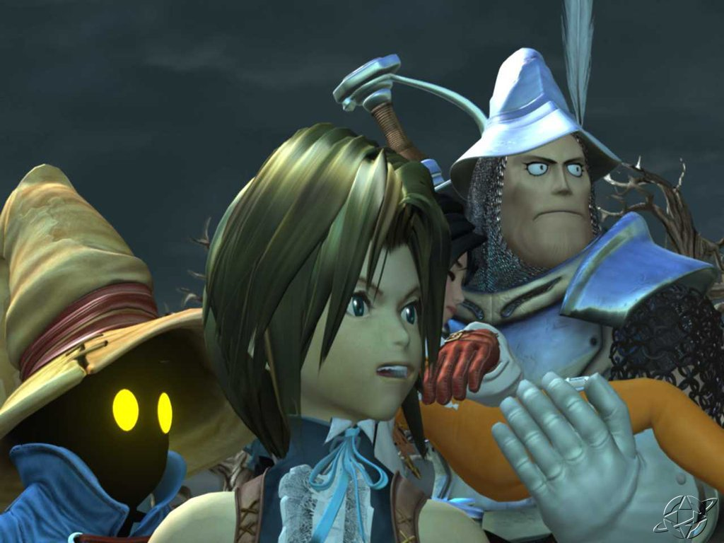 Wallpaper 4 personnages Final Fantasy 9