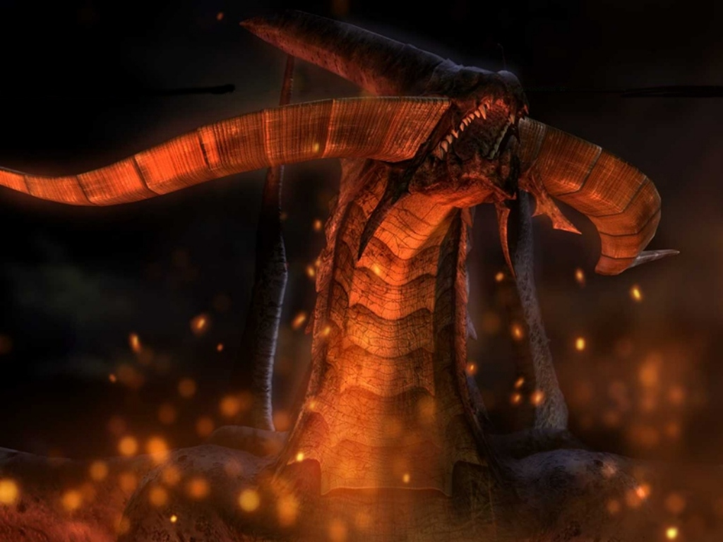 Wallpaper Final Fantasy 9 bahamut
