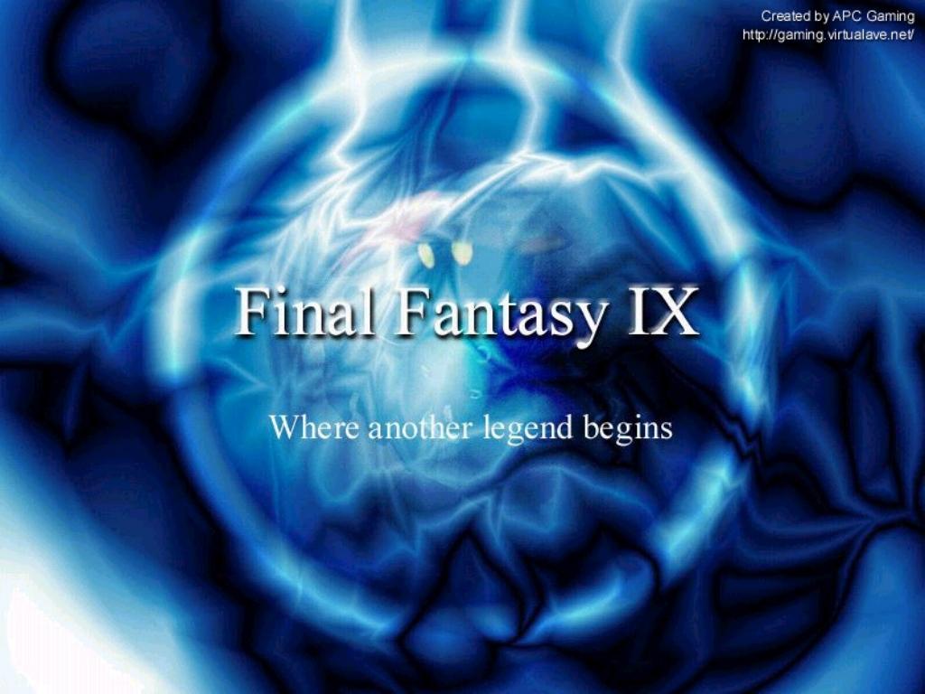Wallpaper titre Final Fantasy 9