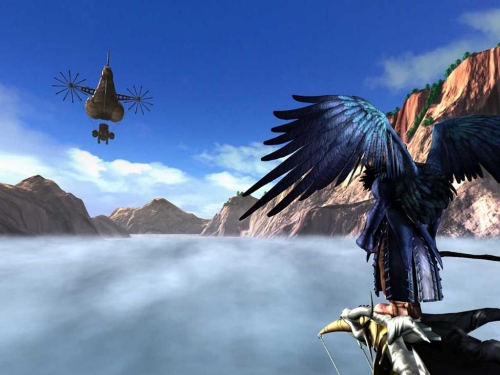 Wallpaper zone montagnarde Final Fantasy 9