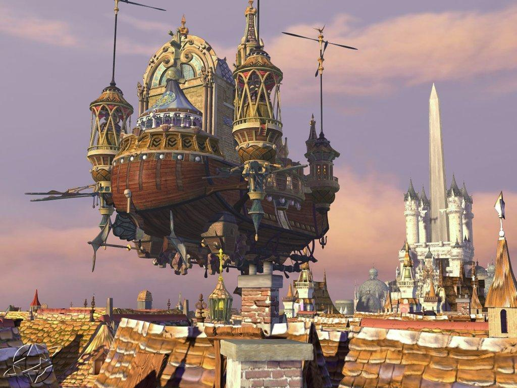 Wallpaper bateau Final Fantasy 9