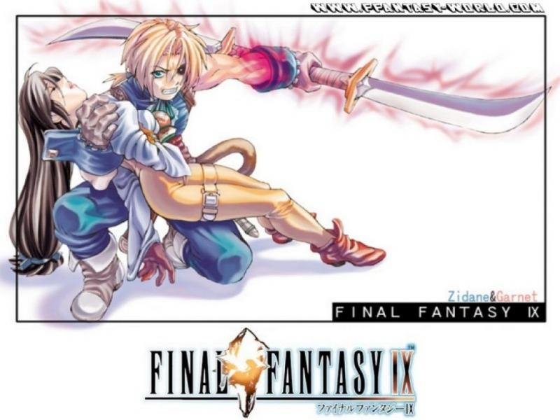 Wallpaper dagga et djidane Final Fantasy 9