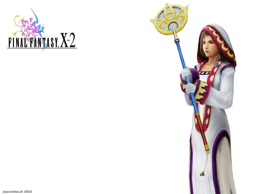 Wallpaper Final Fantasy X-2 yuna mage blanc