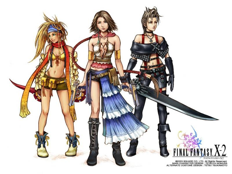 Wallpaper toute enssemble Final Fantasy X-2