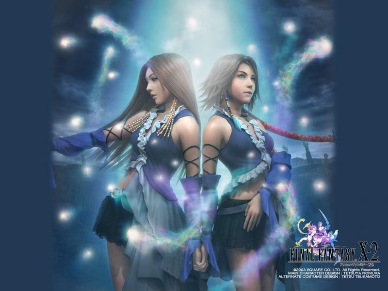 Wallpaper yuna et lenne Final Fantasy X-2
