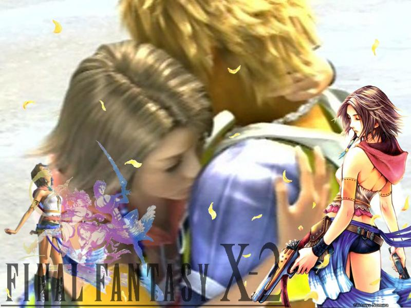 Wallpaper Final Fantasy X-2 yuna et tidus