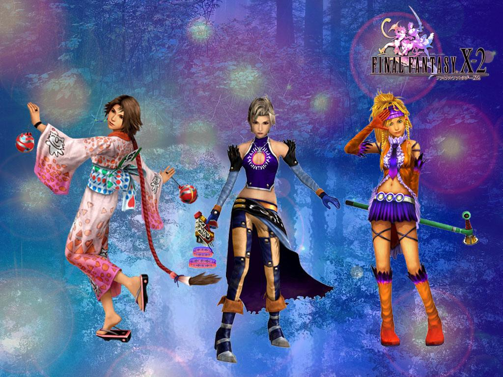 Wallpaper yuna paine rikku Final Fantasy X-2