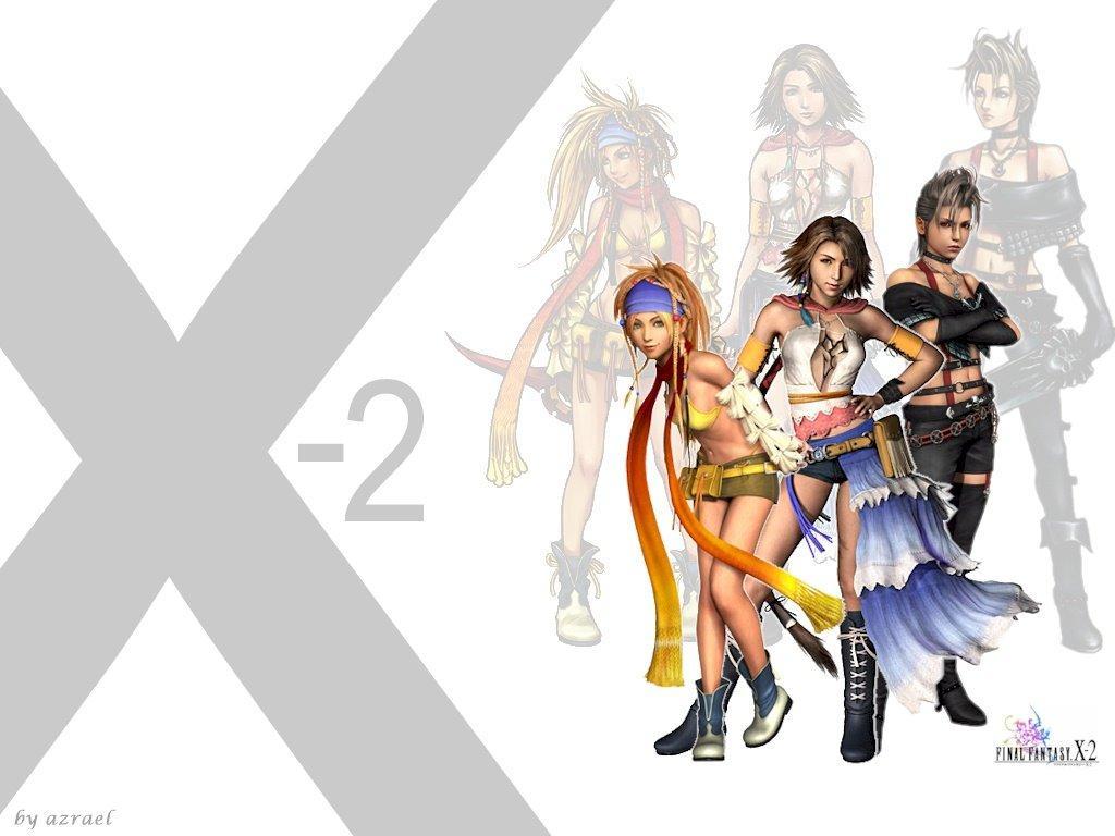 Wallpaper Final Fantasy X-2 yuna rikku paine