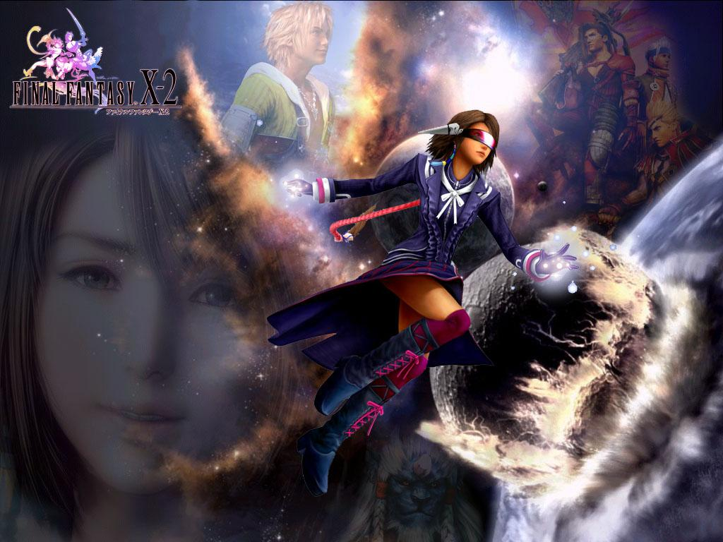 Wallpaper Final Fantasy X-2 yuna tidus