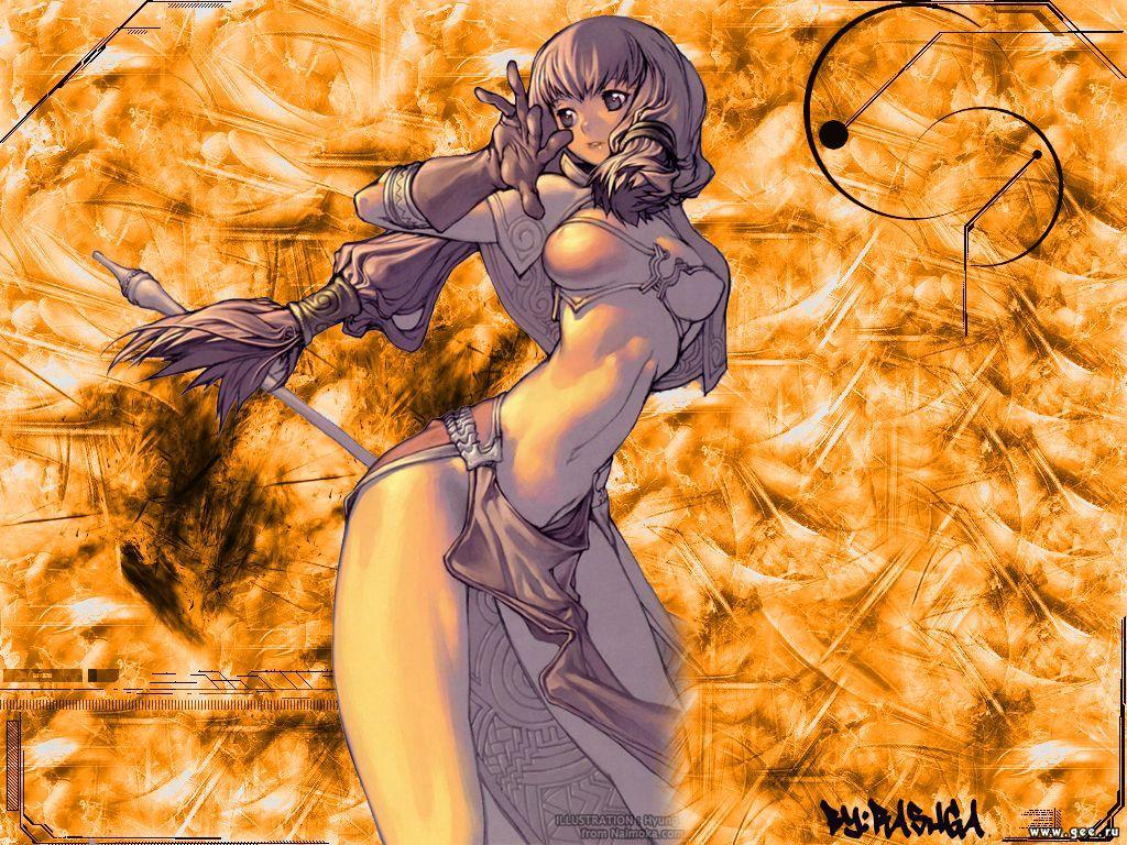 Wallpaper jeune fille Art Manga