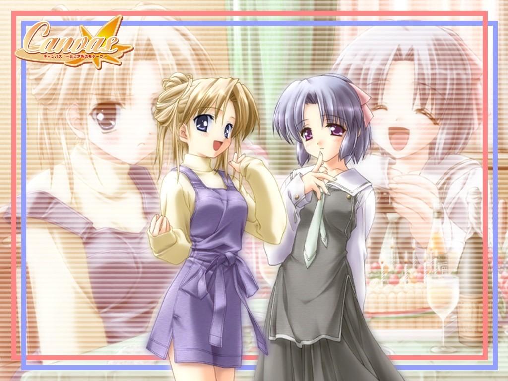 Wallpaper Canvas 2 filles mignones