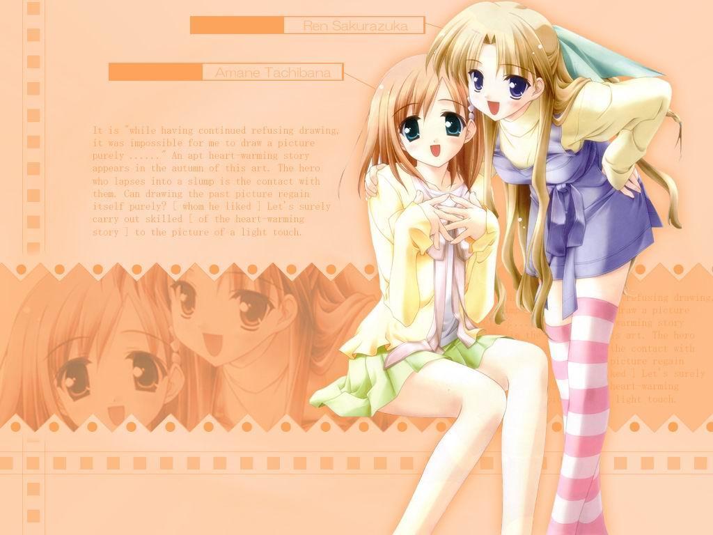 Wallpaper Canvas 2 belles filles