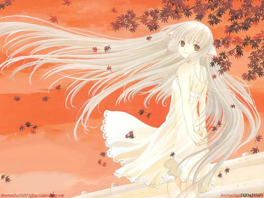 Wallpaper Chobits jolie fille