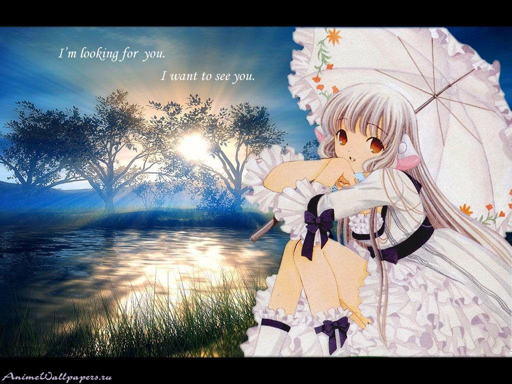 Wallpaper jolie paysage Chobits