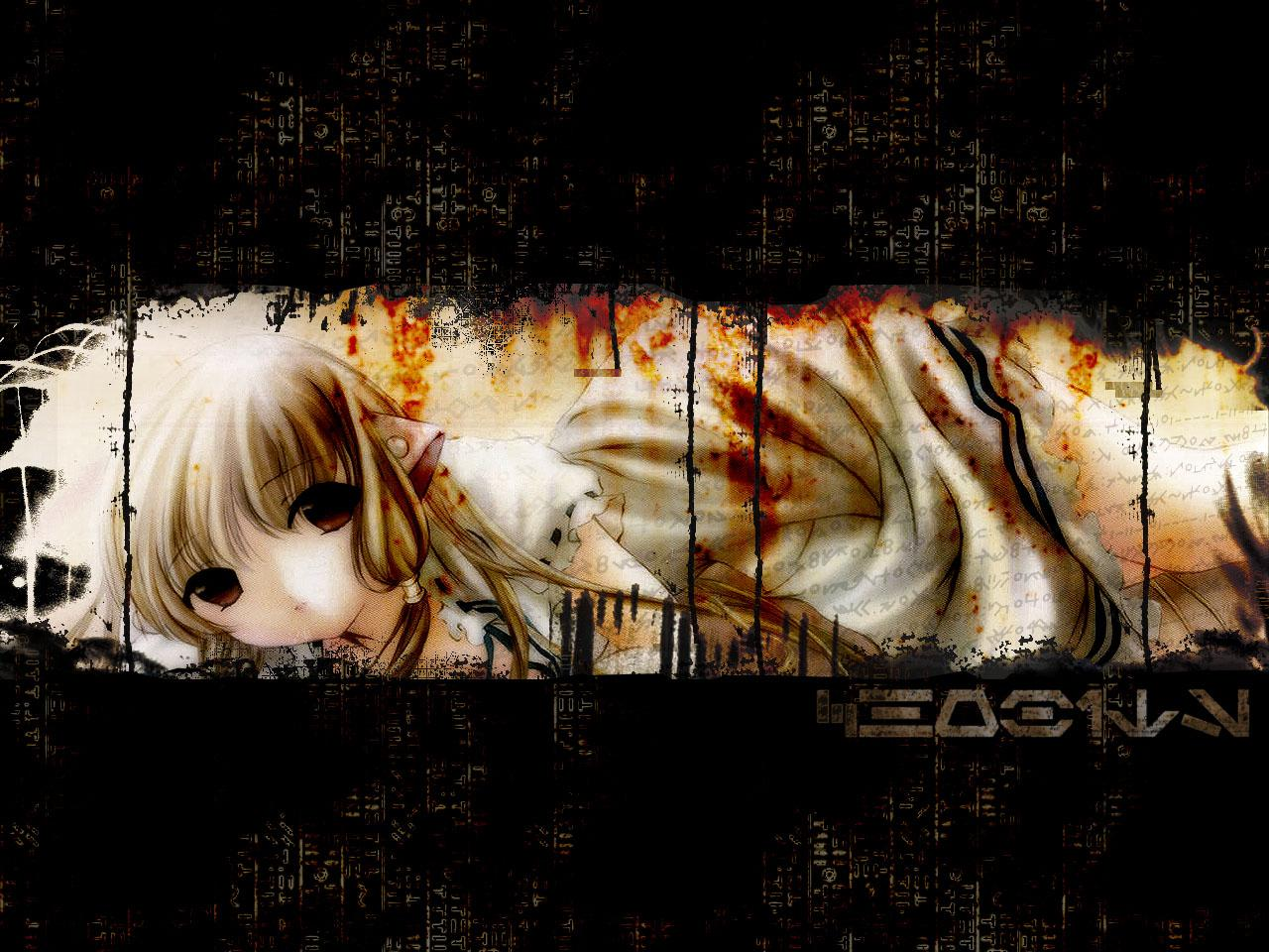 Wallpaper Chobits noir