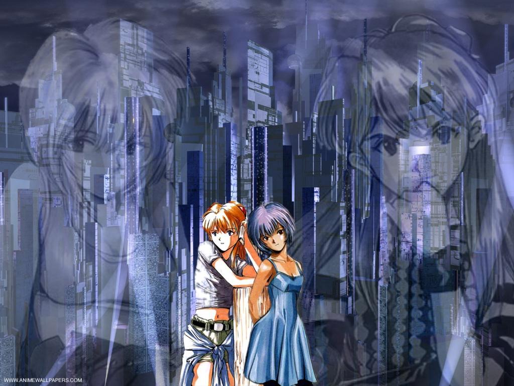 Wallpaper Evangelion pluie