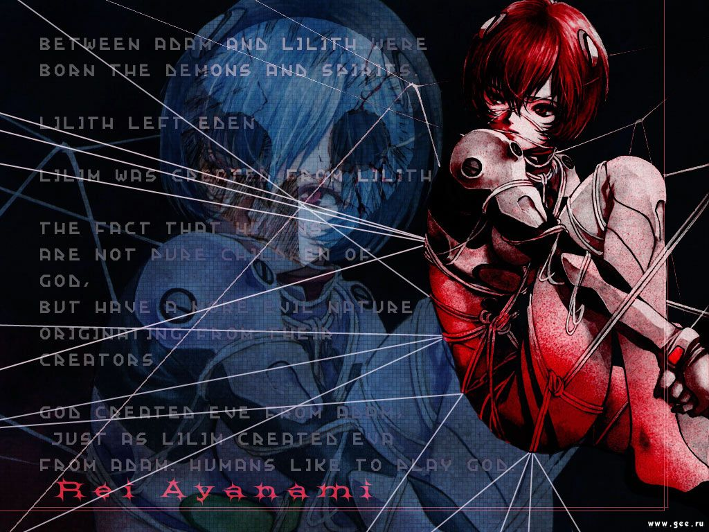 Wallpaper Evangelion rei ayanami