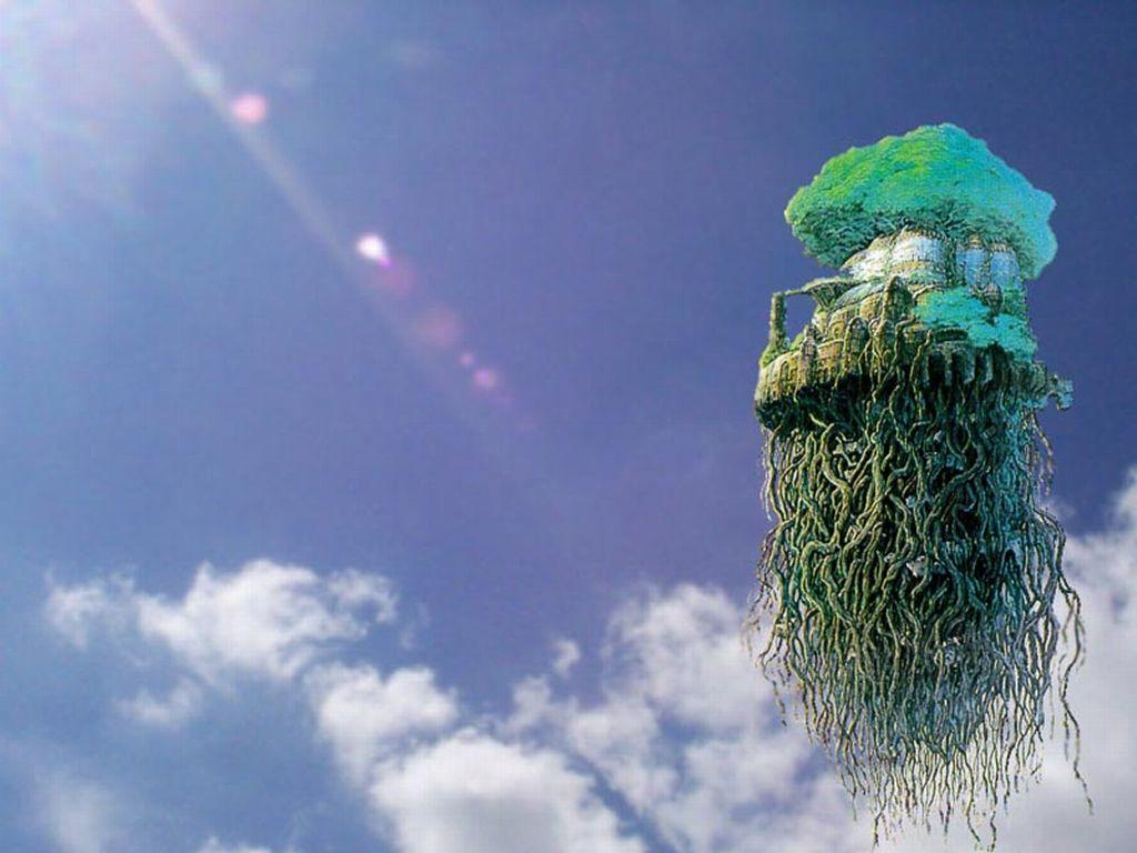 Wallpaper le chateau dans le ciel Laputa