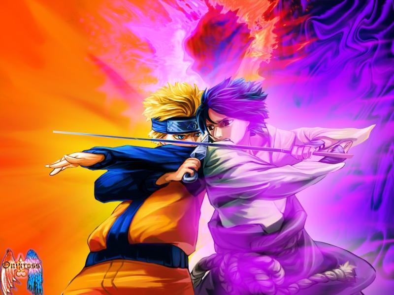 Wallpaper Manga Naruto combat naruto