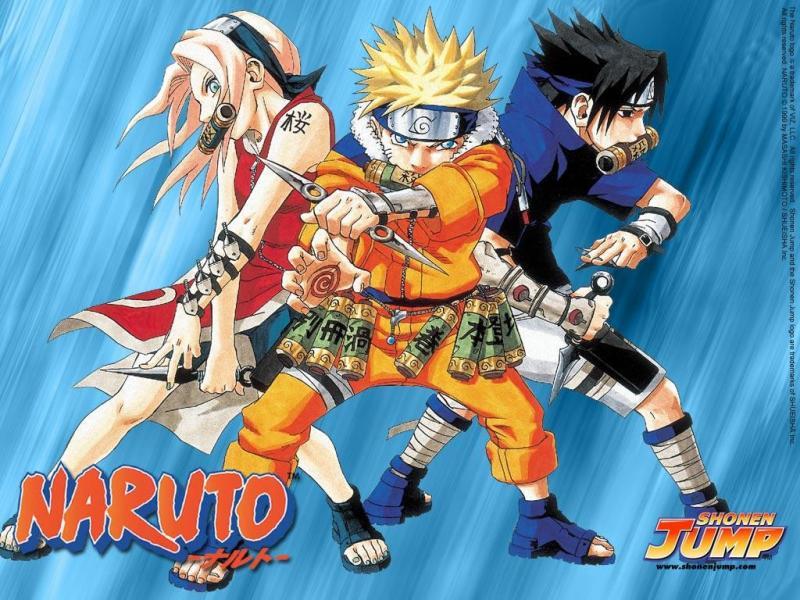 Wallpaper Manga Naruto naruto sakura sasuke