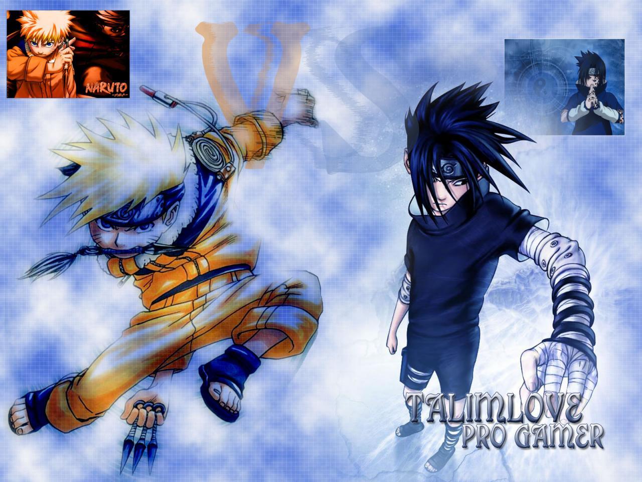 Wallpaper sasuke uchiwa et naruto uzumaki Manga Naruto