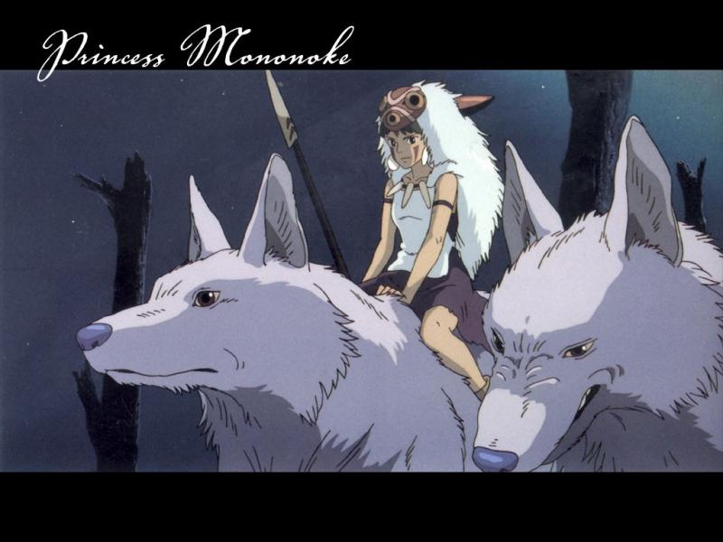 Wallpaper Louve Mononoke