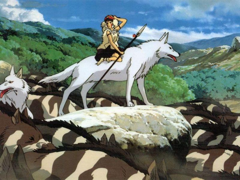 Wallpaper Louves Mononoke