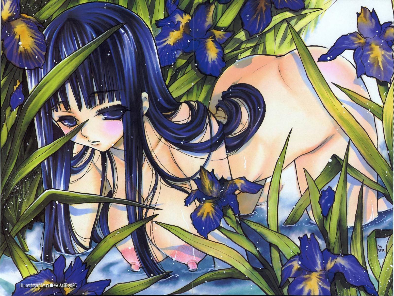 Wallpaper belle fille nue Soft