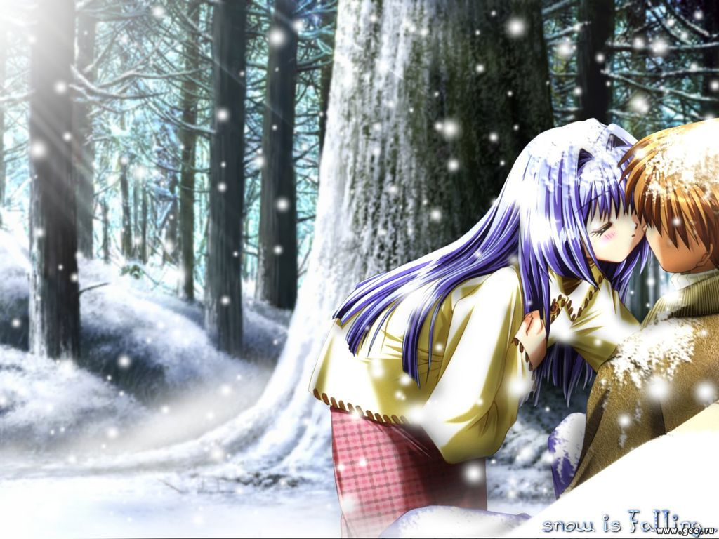 Wallpaper hiver Tendresse