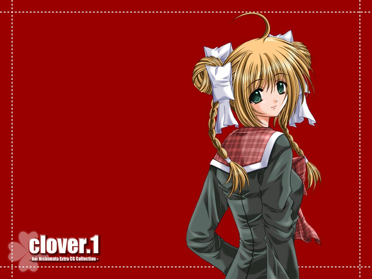 Wallpaper Clover belle fille