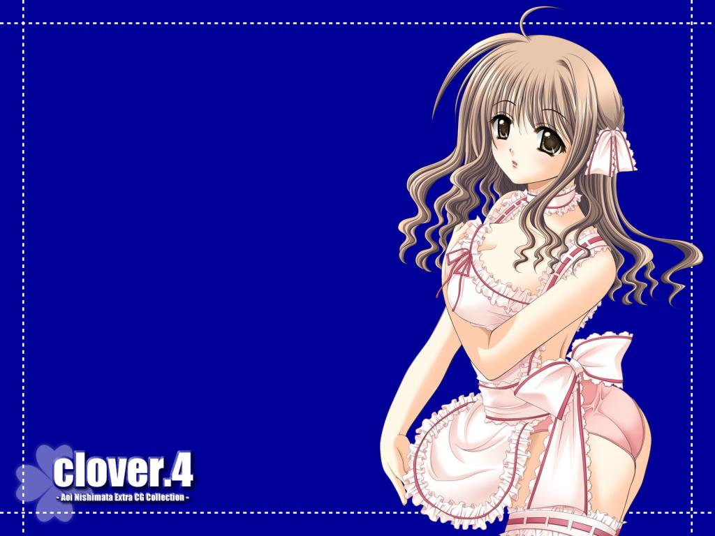 Wallpaper Clover tres belle fille