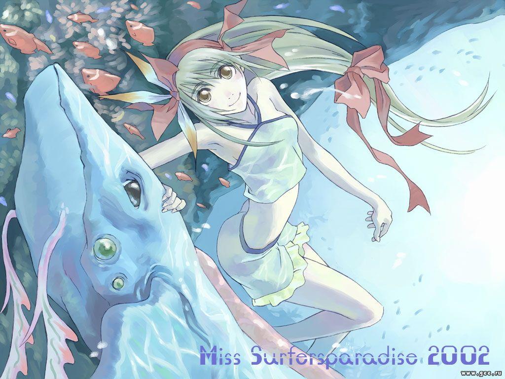 Wallpaper Miss Surfer amitiee