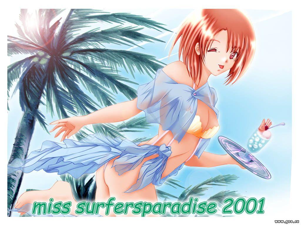 Wallpaper Miss Surfer jolie fille
