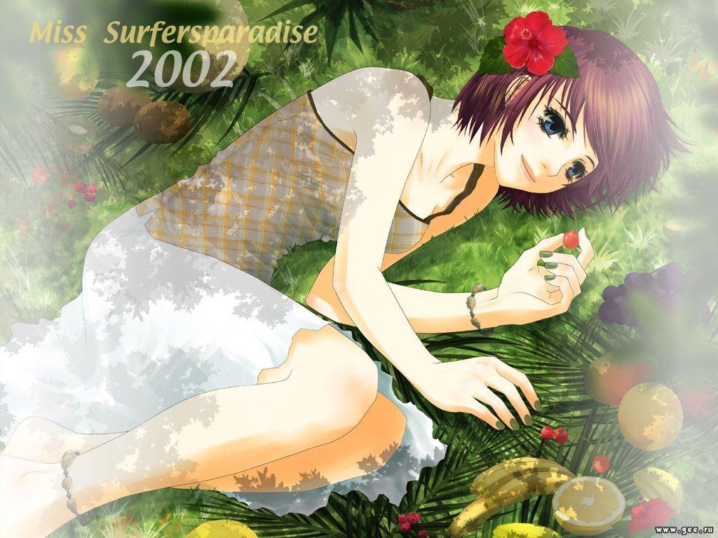 Wallpaper Miss Surfer belle fille