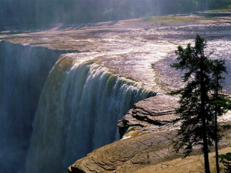 Wallpaper Paysages chute eau