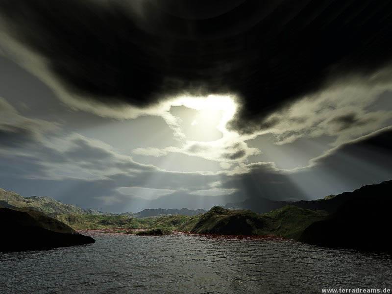 Wallpaper Paysages eau nuages