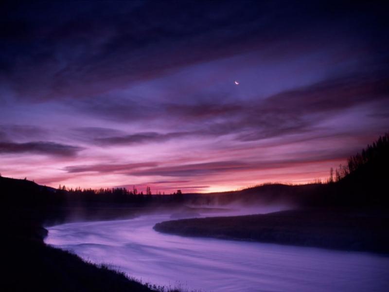 Wallpaper eau nuages Paysages