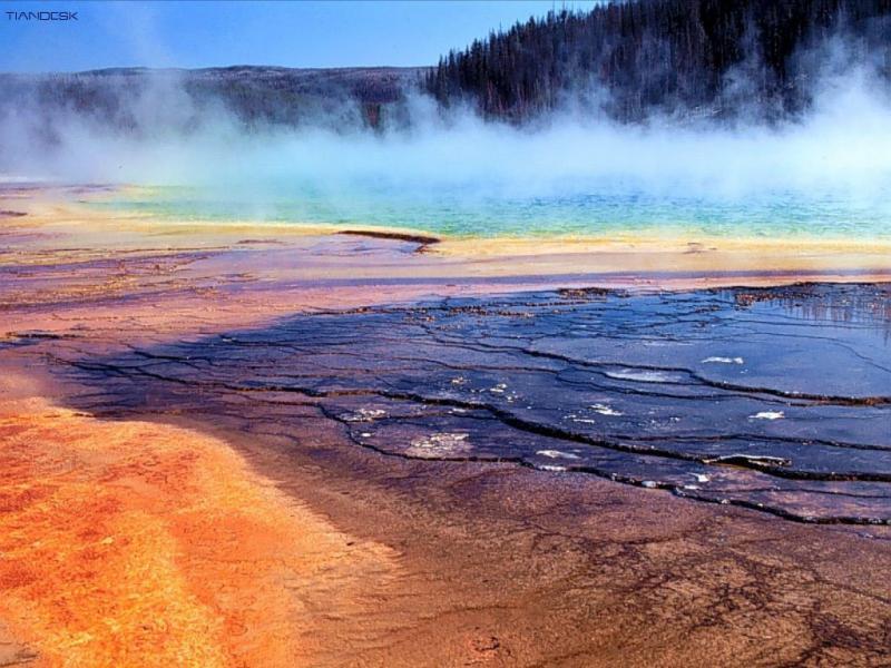 Wallpaper geyser volcan Paysages