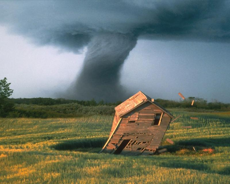 Wallpaper Paysages mechante tornade