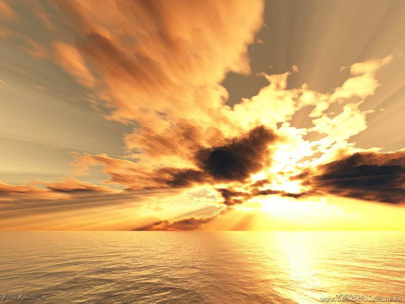 Wallpaper mer nuages Paysages