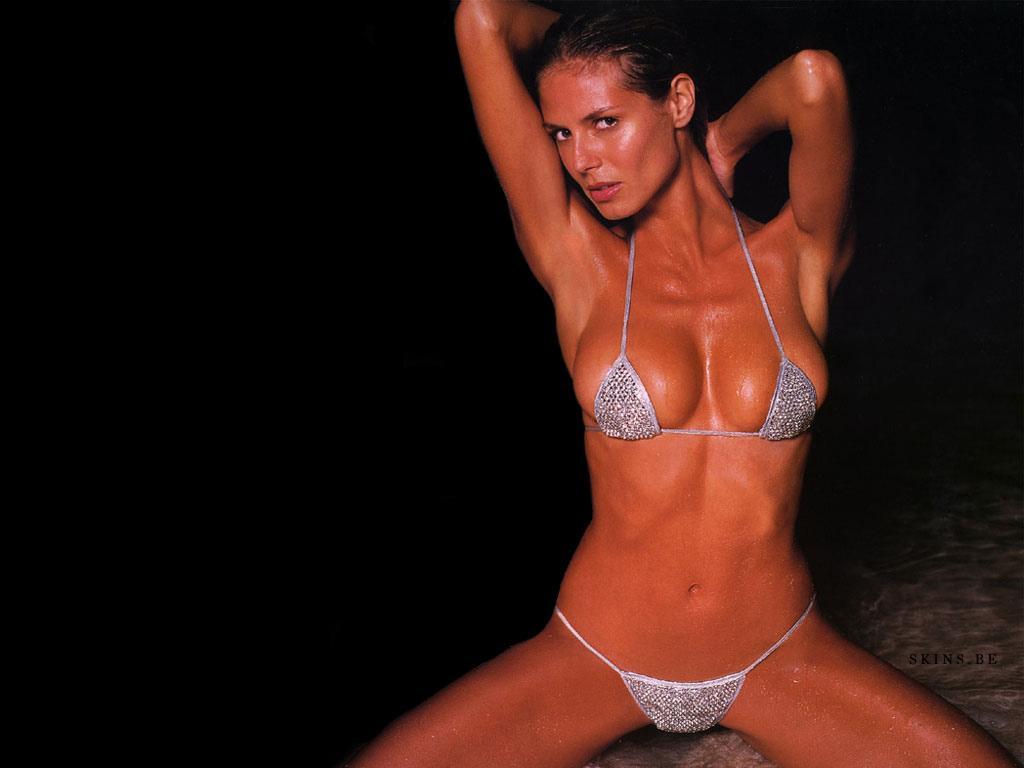 Wallpaper Heidi Klum bikini