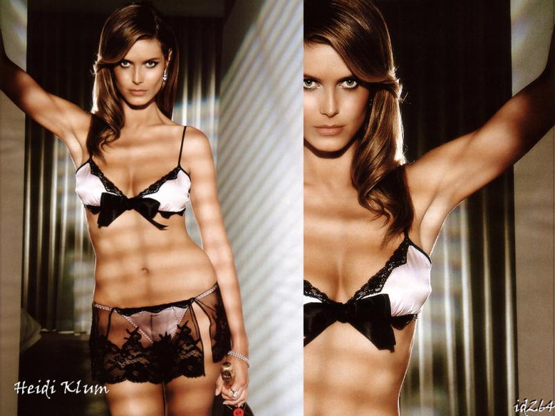 Wallpaper Heidi Klum lingerie