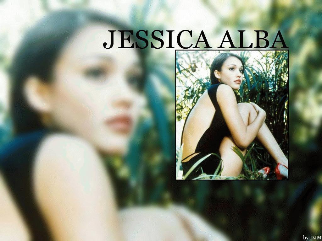 Wallpaper Jessica Alba quasi nue