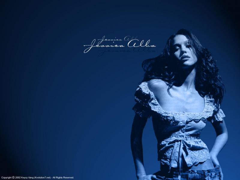 Wallpaper Jessica Alba tres belle fille