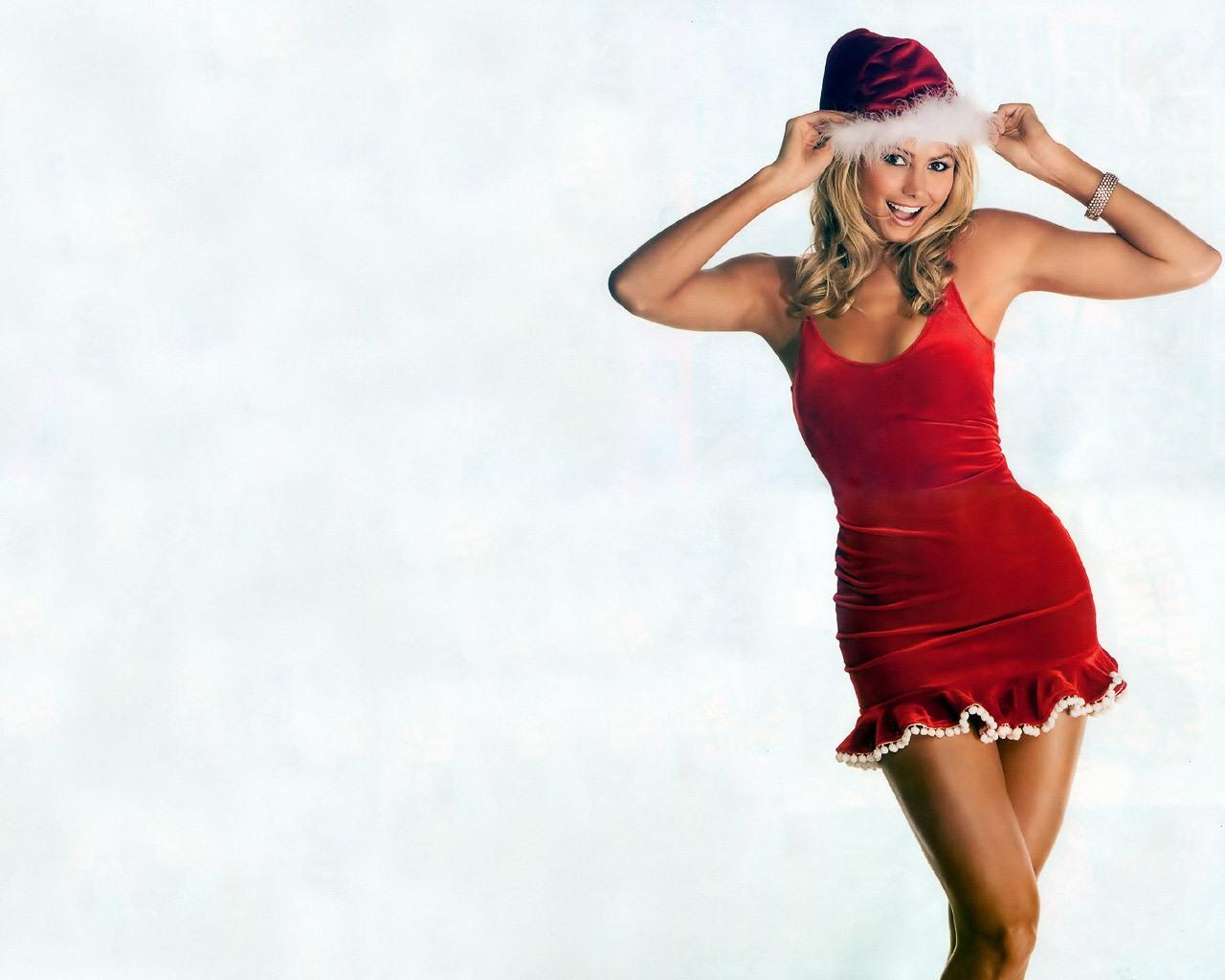 Wallpaper Stacy Keibler sexy hot mere noel christmas Sexe & Charme