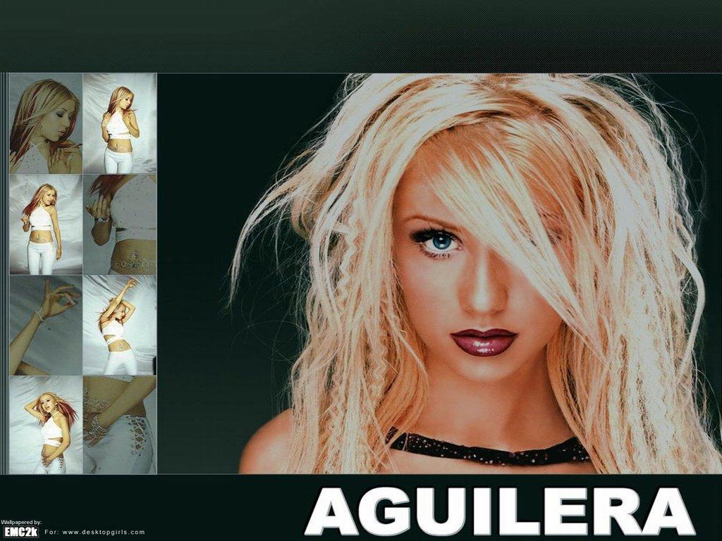 Wallpaper Christina Aguilera cheveux long