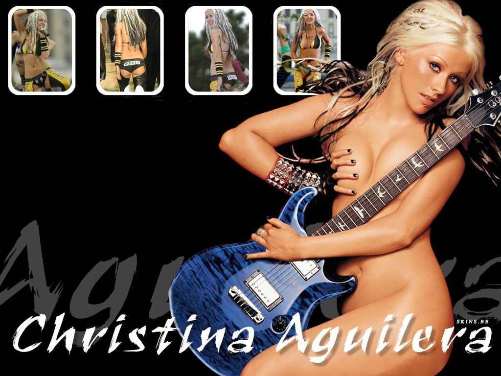 Wallpaper sexy nue Christina Aguilera