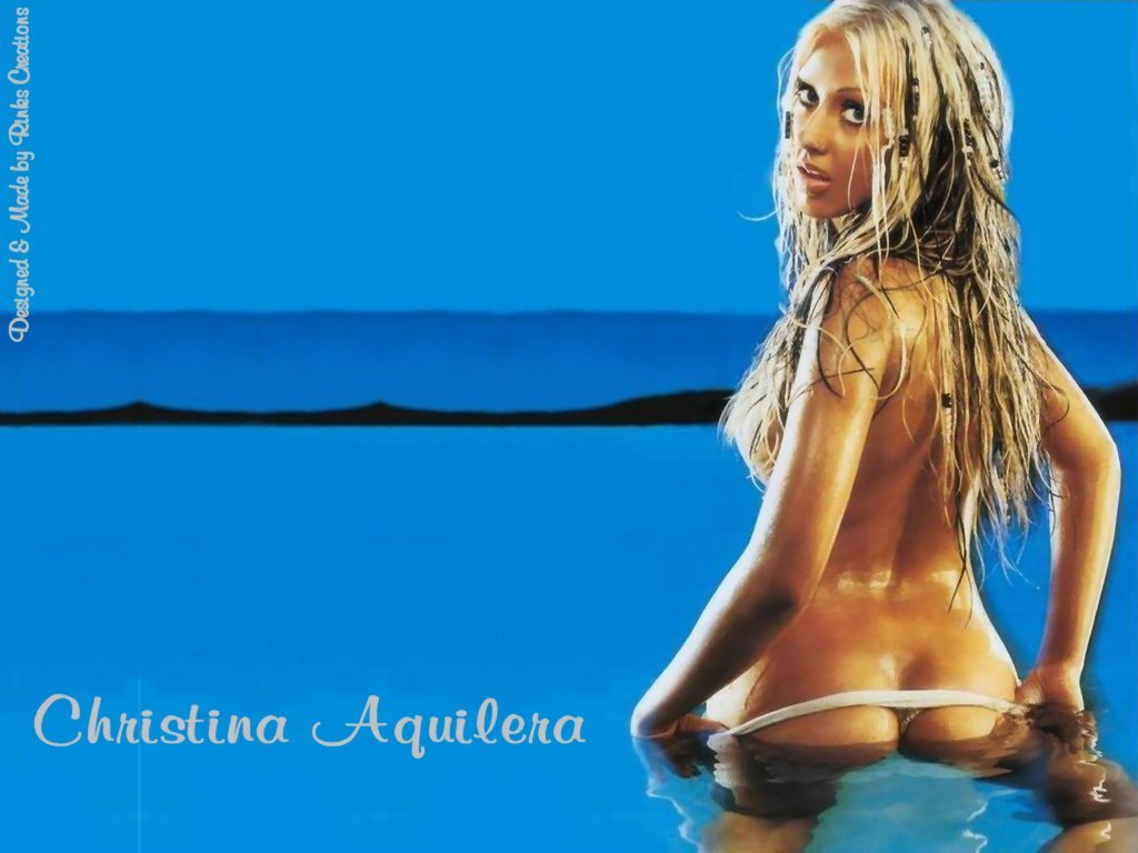 Wallpaper Christina Aguilera string