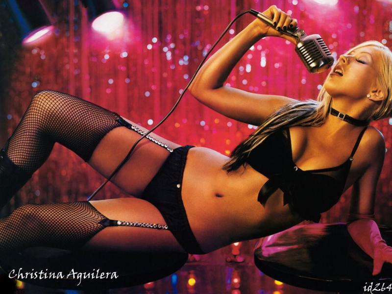 Wallpaper sexy Christina Aguilera
